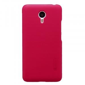Пластиковый матовый нескользящий премиум чехол для Meizu M2 Note Пурпурный