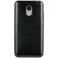 Силиконовый чехол накладка с кожакой текстурой для Meizu M2 Note Черный