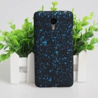 Пластиковый матовый дизайнерский чехол с с голографическим принтом Звезды для Meizu M2 Note Голубой