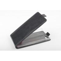 Чехол вертикальная книжка на пластиковой основе с магнитной застежкой для Explay Rio Черный