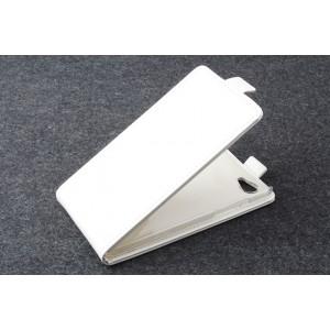 Чехол вертикальная книжка на пластиковой основе с магнитной застежкой для Explay Rio Белый