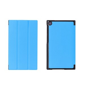 Чехол флип подставка сегментарный на поликарбонатной основе для ASUS ZenPad C 7.0 Голубой