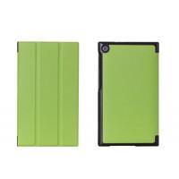 Чехол флип подставка сегментарный на поликарбонатной основе для ASUS ZenPad C 7.0 Зеленый