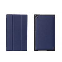 Чехол флип подставка сегментарный на поликарбонатной основе для ASUS ZenPad C 7.0 Синий
