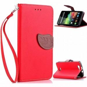 Дизайнерский чехол портмоне подставка с магнитной защелкой для Explay Fresh Красный