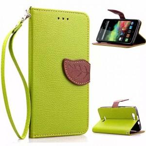 Дизайнерский чехол портмоне подставка с магнитной защелкой для Explay Fresh Зеленый
