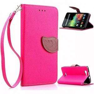 Дизайнерский чехол портмоне подставка с магнитной защелкой для Explay Fresh Пурпурный