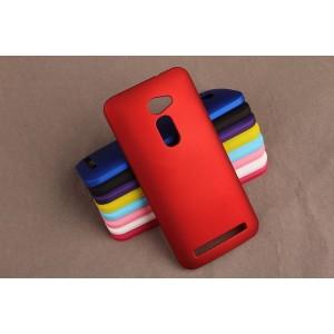 Пластиковый матовый непрозрачный чехол для Asus Zenfone 2 5 Красный
