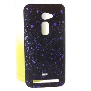 Пластиковый матовый дизайнерский чехол с голографическим принтом Звезды для Asus Zenfone 2 5 Фиолетовый