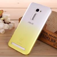 Пластиковый градиентный полупрозрачный чехол для Asus Zenfone 2 5 Желтый