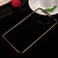Металлический бампер с золотой окантовкой для Asus Zenfone 2 5 Черный