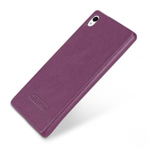 Кожаный чехол накладка (нат. кожа) для Sony Xperia Z3+