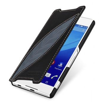 Эксклюзивный кожаный чехол горизонтальная книжка (2 вида нат. кожи) ручной работы для Sony Xperia Z3+