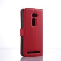 Чехол портмоне подставка на пластиковой основе с магнитной защелкой для Asus Zenfone 2 5 Красный