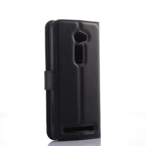 Чехол портмоне подставка на пластиковой основе с магнитной защелкой для Asus Zenfone 2 5 Черный