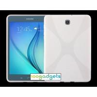 Силиконовый матовый X чехол для Samsung Galaxy Tab S2 8.0 Белый