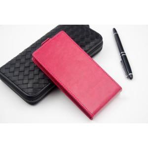 Клеевой чехол вертикальная книжка с магнитной застежкой и внутренним карманом для Megafon Login+