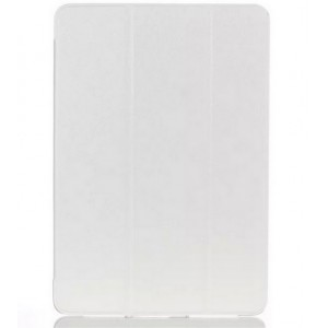 Текстурный чехол флип подставка сегментарный на пластиковой полупрозрачной основе для Samsung Galaxy Tab A 9.7 Белый