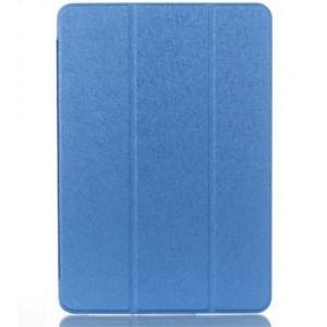 Текстурный чехол флип подставка сегментарный на пластиковой полупрозрачной основе для Samsung Galaxy Tab A 9.7 Синий