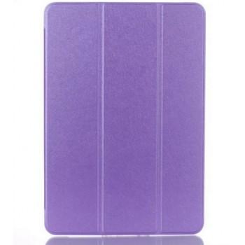 Текстурный чехол флип подставка сегментарный на пластиковой полупрозрачной основе для Samsung Galaxy Tab A 9.7 Фиолетовый