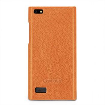Кожаный чехол накладка (нат. кожа) для Blackberry Leap