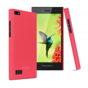 Пластиковый матовый непрозрачный чехол повышенной шероховатости для Blackberry Leap Пурпурный