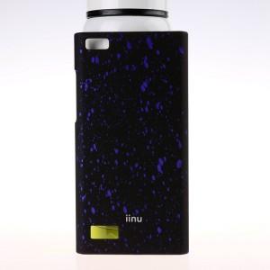Пластиковый матовый дизайнерский чехол с голографическим принтом Звезды для Blackberry Leap