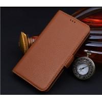 Кожаный чехол портмоне подставка (нат. кожа) для Blackberry Leap