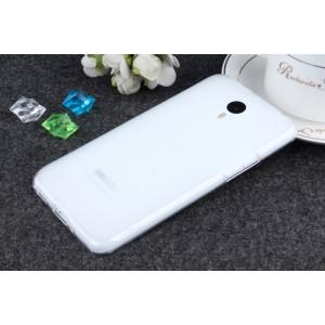 Силиконовый матовый полупрозрачный чехол для Meizu M1 Note Белый