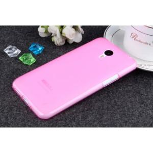 Силиконовый матовый полупрозрачный чехол для Meizu M1 Note Розовый