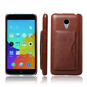 Кожаный чехол накладка с отделением для карт с функцией подставки для Meizu M1 Note