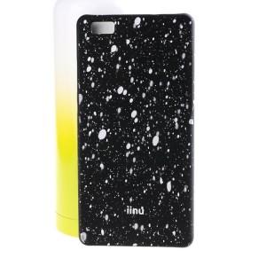 Пластиковый матовый дизайнерский чехол с голографическим принтом Звезды для Huawei P8 Lite