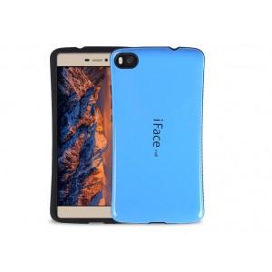 Силиконовый эргономичный непрозрачный чехол с нескользящими гранями для Huawei P8 Lite Синий