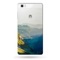 Пластиковый полупрозрачный дизайнерский чехол с УФ-принтом для Huawei P8 Lite