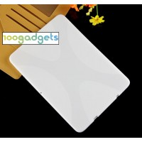 Силиконовый матовый X чехол для Samsung Galaxy Tab S2 9.7 Белый