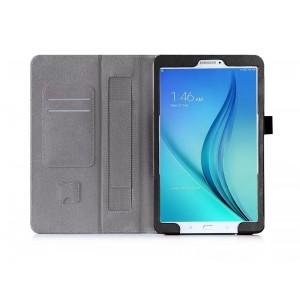 Чехол подставка с рамочной защитой и внутренними отсеками для Samsung Galaxy Tab E 9.6