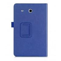 Чехол подставка с рамочной защитой и внутренними отсеками для Samsung Galaxy Tab E 9.6 Синий