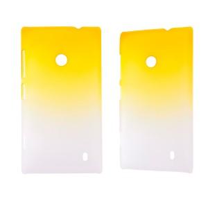 Градиентный пластиковый чехол для Nokia Lumia 520/525 Желтый
