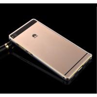 Металлический бампер для Huawei P8 Lite Серый