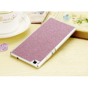 Дизайнерский поликарбонатный чехол с текстурным покрытием для Huawei P8 Lite Розовый