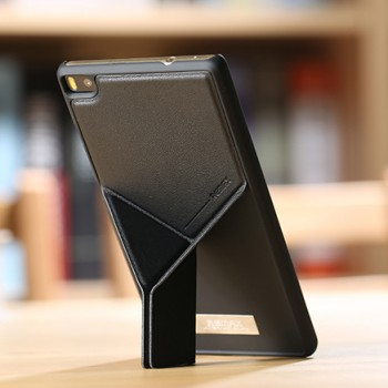 Пластиковый матовый чехол с встроенной оригами подставкой для Huawei P8 Lite