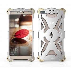 Ультразащитный антиударный металлический каркас для Huawei P8 Lite