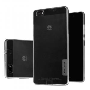 Силиконовый матовый полупрозрачный чехол для Huawei P8 Lite Серый
