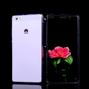 Двухмодульный силиконовый чехол горизонтальная книжка с транспарентной акриловой смарт крышкой для Huawei P8 Lite
