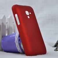 Пластиковый матовый непрозрачный чехол для Alcatel One Touch Pop D3 Красный
