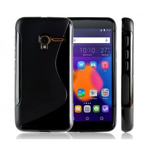 Силиконовый S чехол для Alcatel One Touch Pixi 3 (4.5) Черный