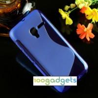 Силиконовый S чехол для Alcatel One Touch Pixi 3 (4.5) Синий