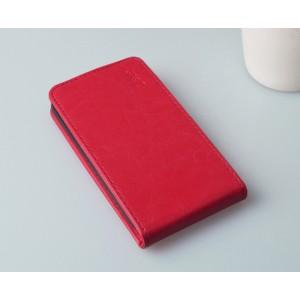 Чехол вертикальная книжка на пластиковой основе с магнитной застежкой для Explay Neo Красный