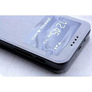 Чехол флип подставка с окном вызова для Alcatel One Touch Pixi 3 (4.5) Серый
