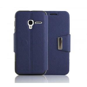 Текстурный чехол флип подставка на силиконовой основе с дизайнерской магнитной застежкой для Alcatel One Touch Pixi 3 (4.0)